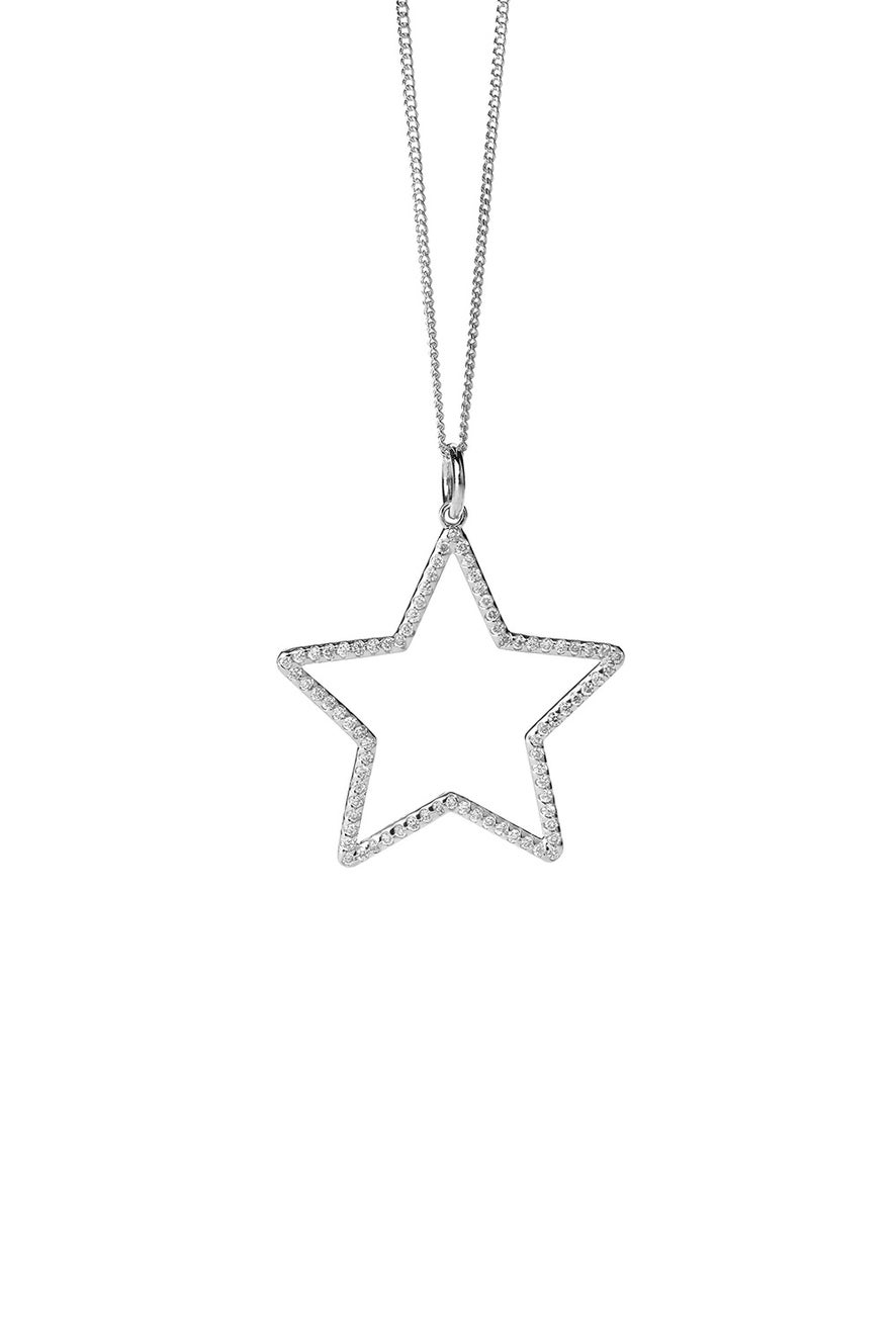 Diamond Star Necklace, White Gold, .44ct Diamond