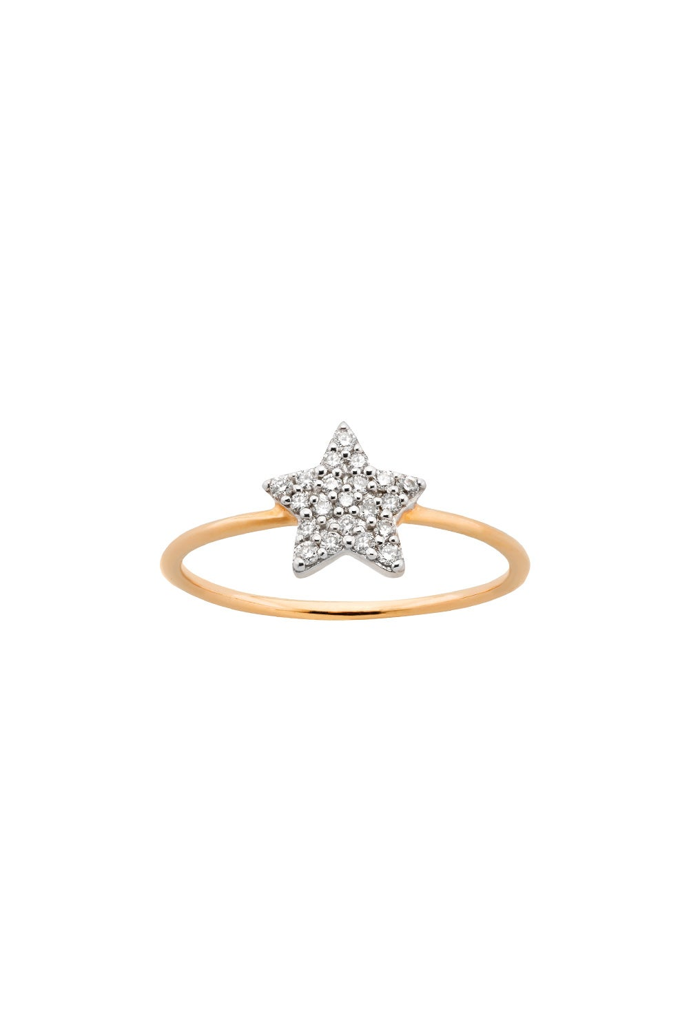 Diamond Superfine Star Ring 9ct Gold, .15ct Diamond