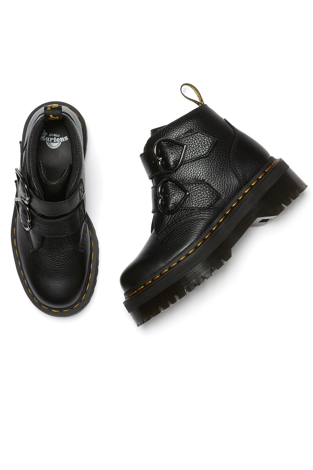 Dr. Martens Devon Heart 2 Strap Boot Black