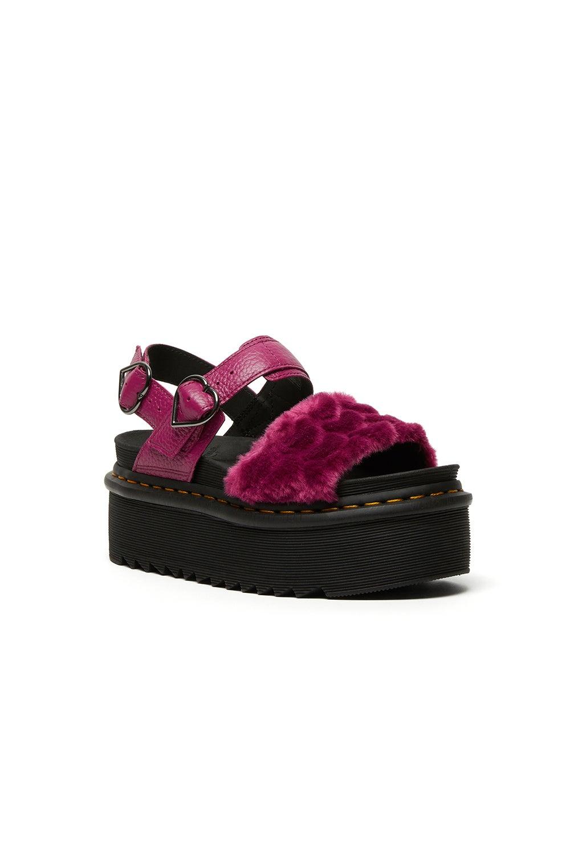 Dr. Martens Voss Quad Fluffy Sandal Fuschia