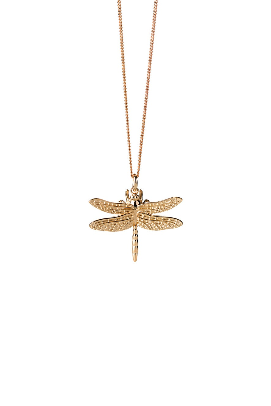 Dragonfly Necklace Gold