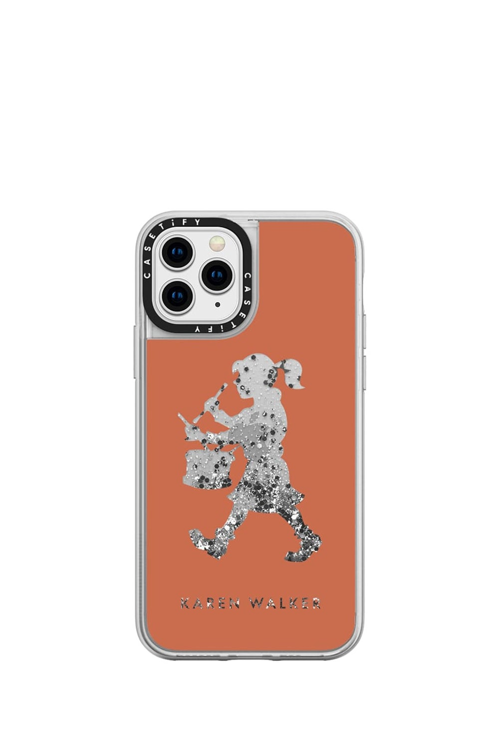 Drummer Girl iPhone Case Terracotta