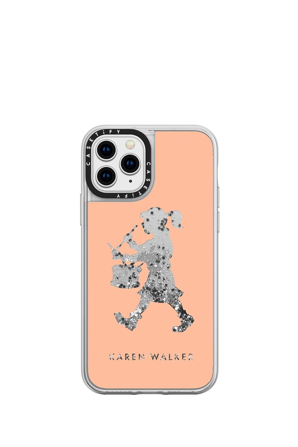 Drummer Girl iPhone Case Peach