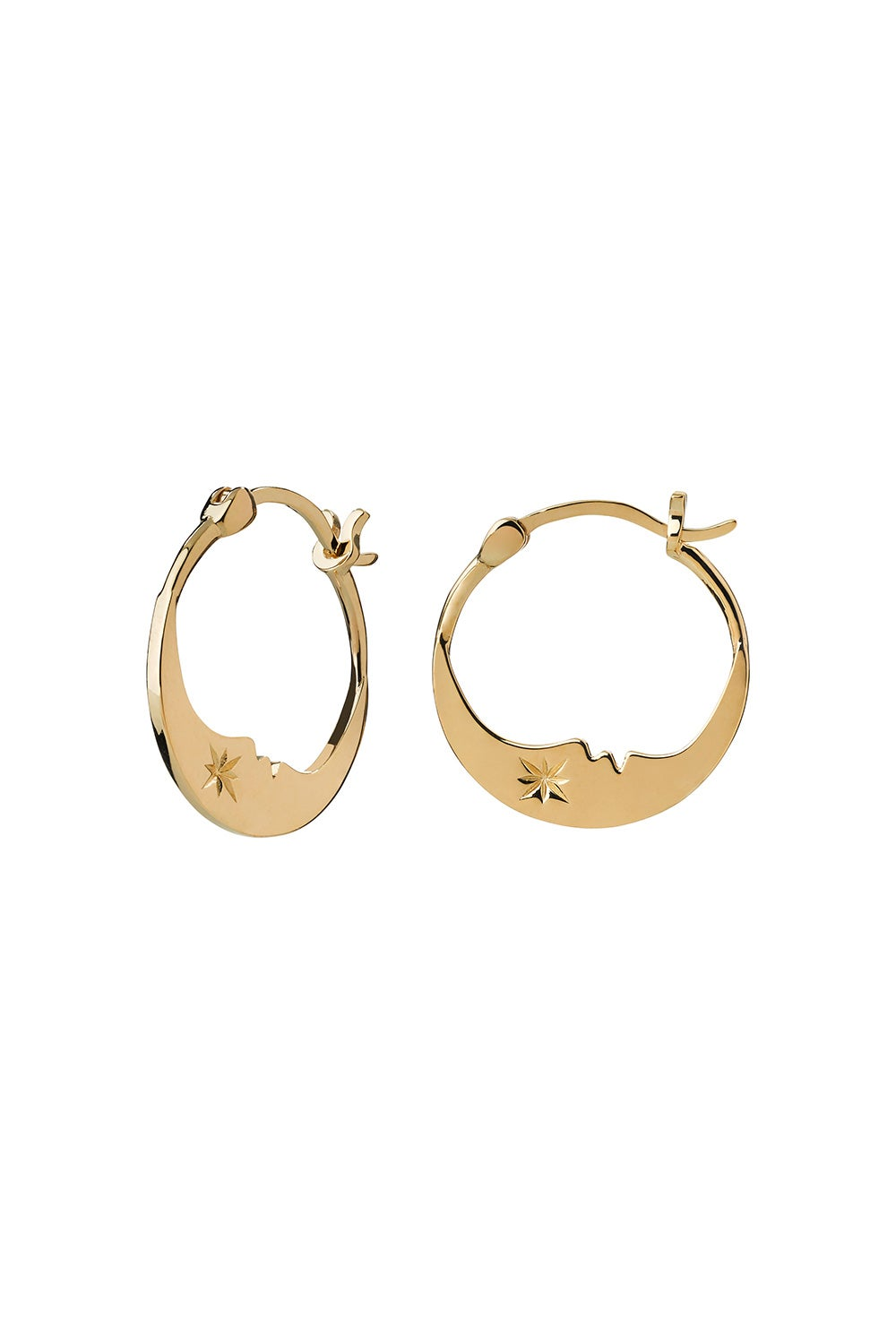 Eclipse Moon Hoops Gold