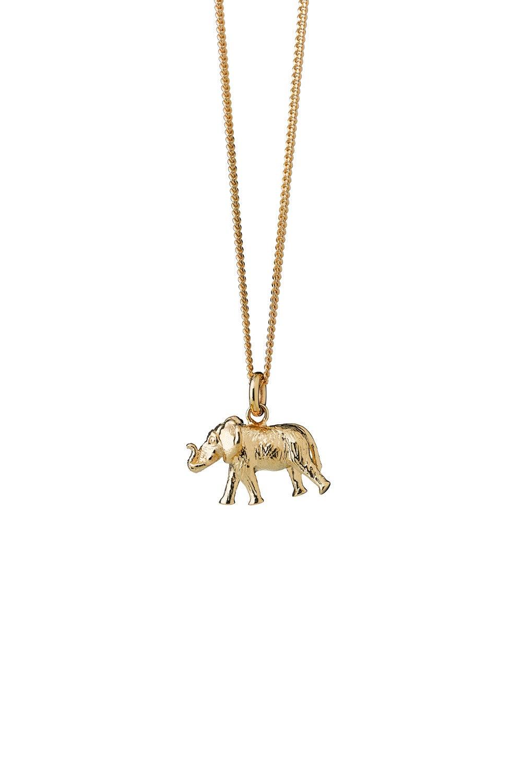 Elephant Necklace Gold