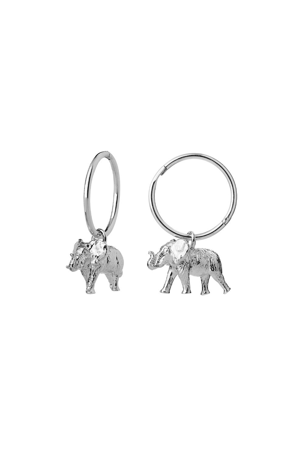 Elephant Sleepers Sterling Silver