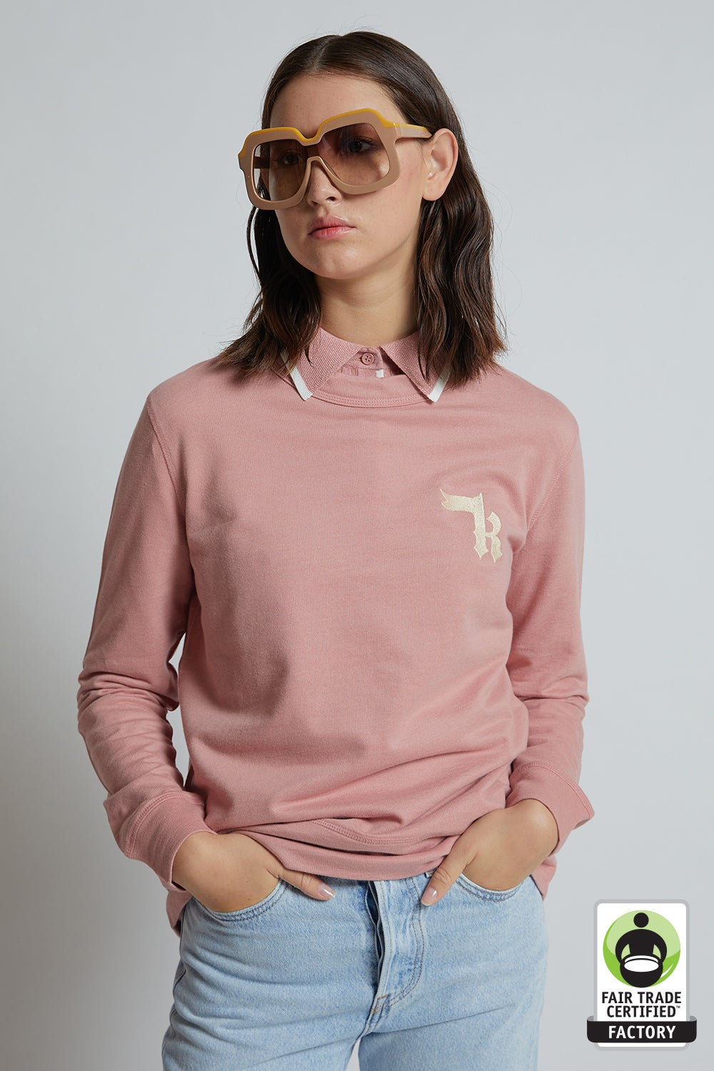 Embroidered K Monogram Organic Cotton Sweatshirt