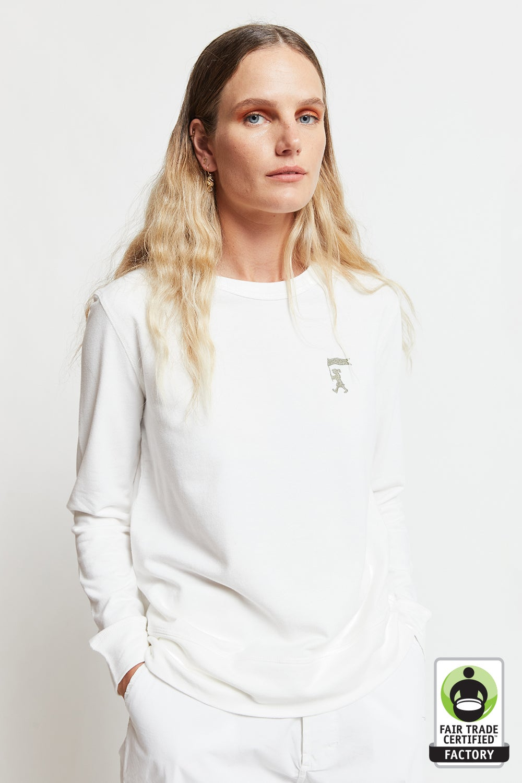 Embroidered Marching Girl Organic Cotton Sweatshirt