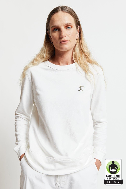 Embroidered Runaway Girl Organic Cotton Sweatshirt