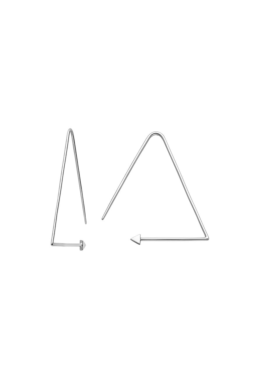 Equilateral Hoops Silver