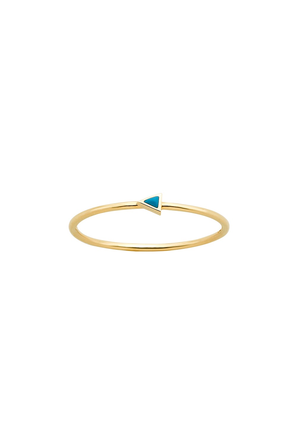 Extra Fine Arrow Ring Gold Turquoise