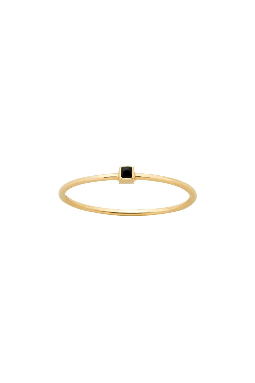 Extra Fine Solar Ring Gold Onyx