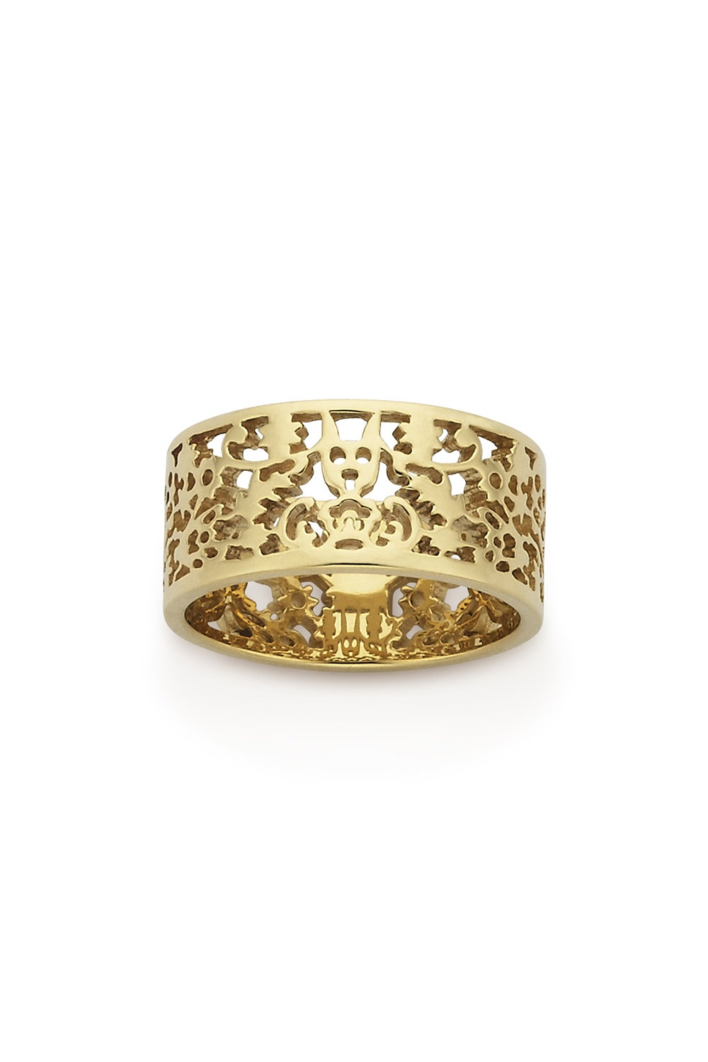 Filigree Band Gold 9mm