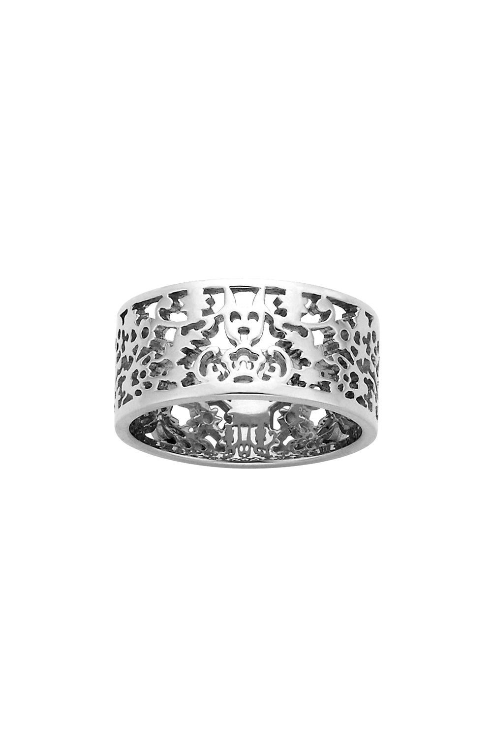 Filigree Band Silver 9mm
