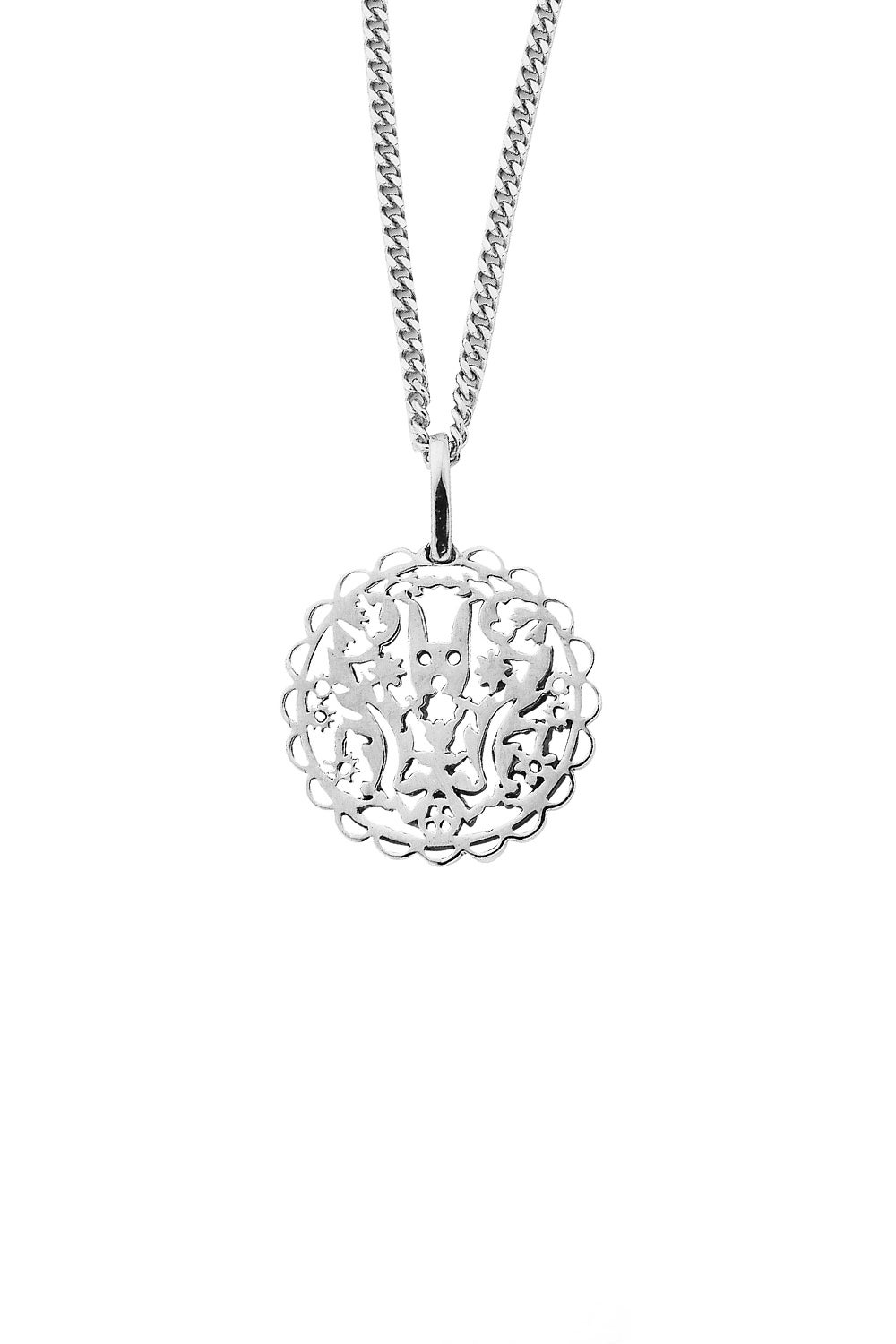 Filigree Rabbit Pendant Silver