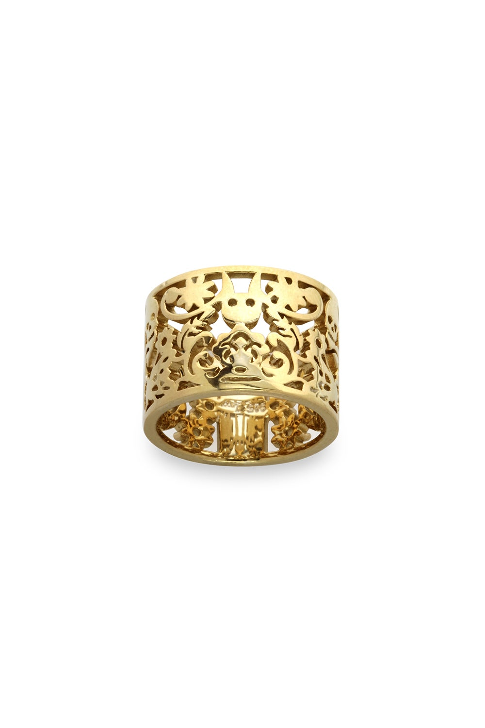 Filigree Ring Gold 15mm