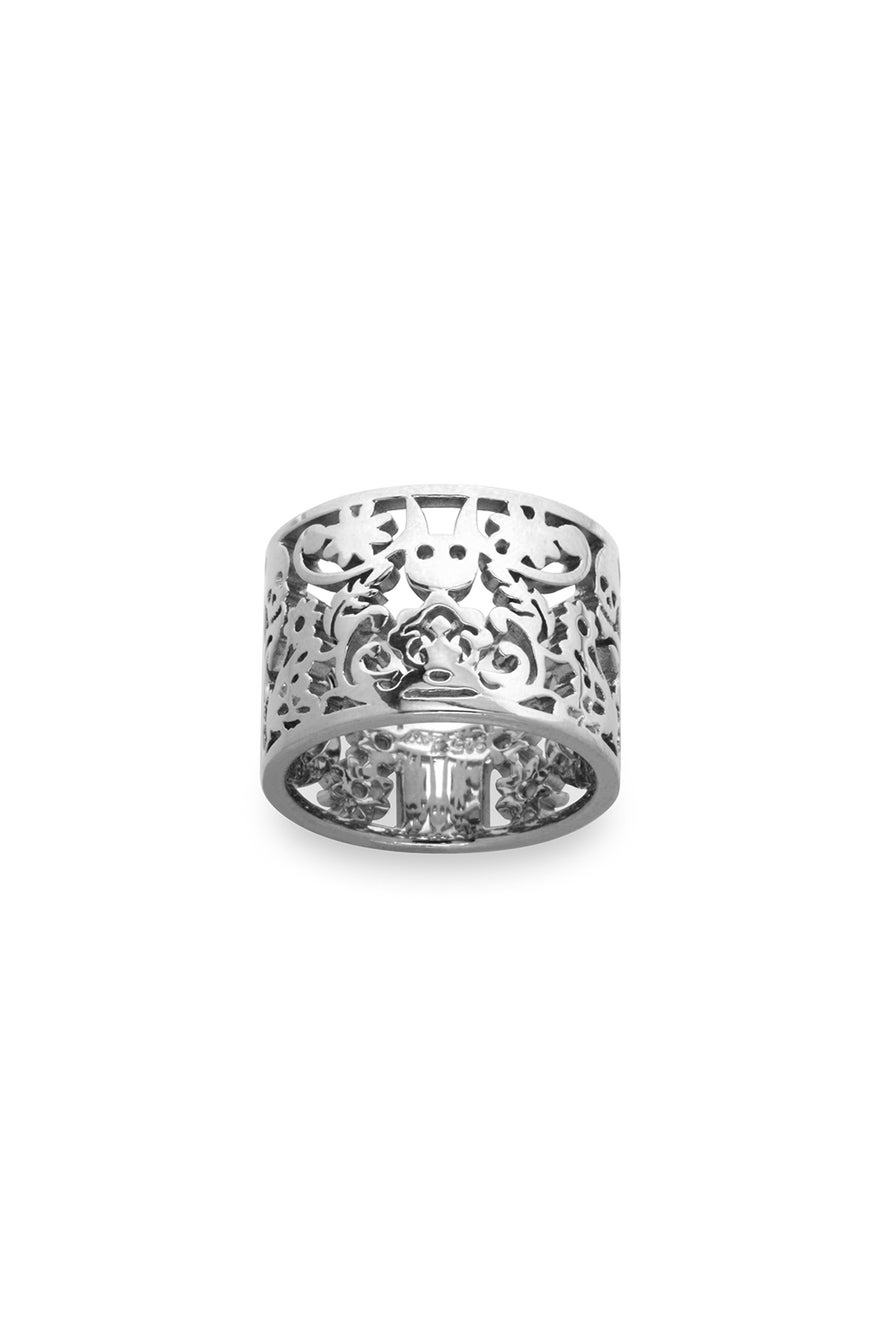 Filigree Ring Silver 15mm