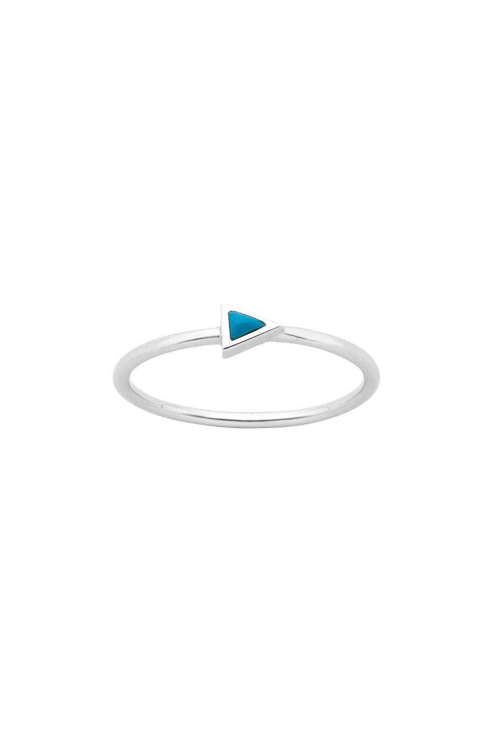 Fine Arrow Ring Silver Turquoise