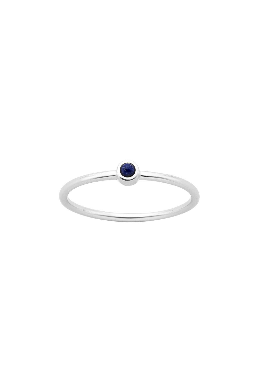 Fine Orbit Ring Silver Lapis