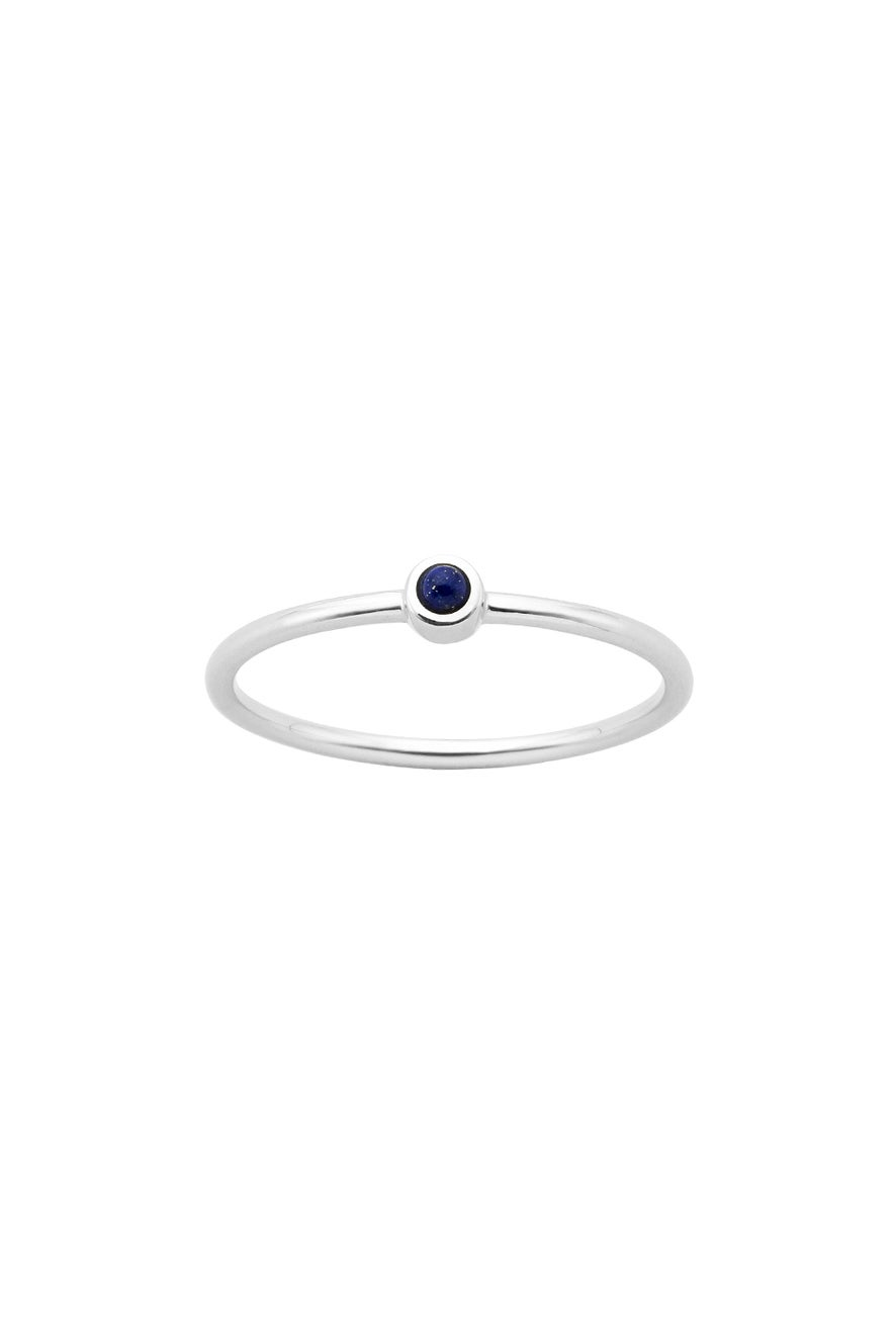 Fine Orbit Ring Silver Lapis