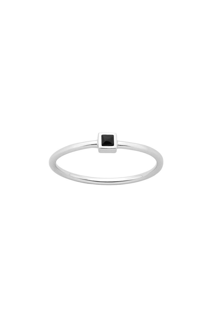 Fine Solar Ring Silver Onyx