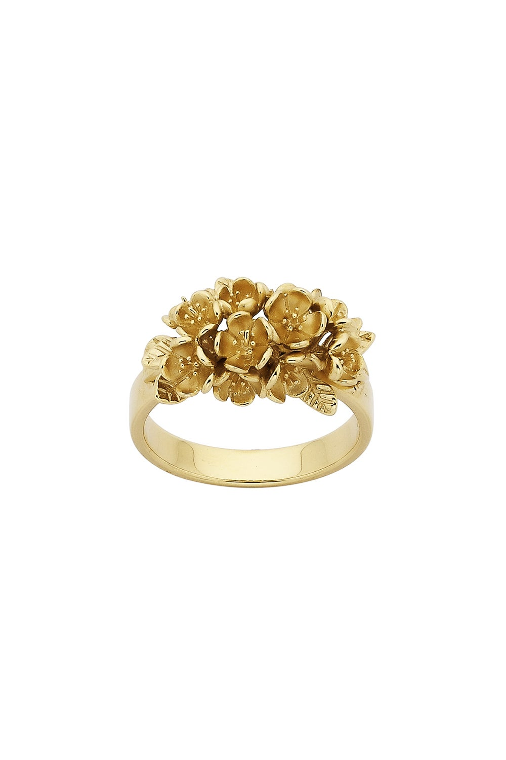 Flower Cluster Ring Gold