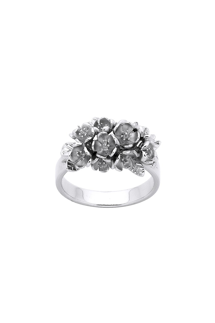Flower Cluster Ring Silver