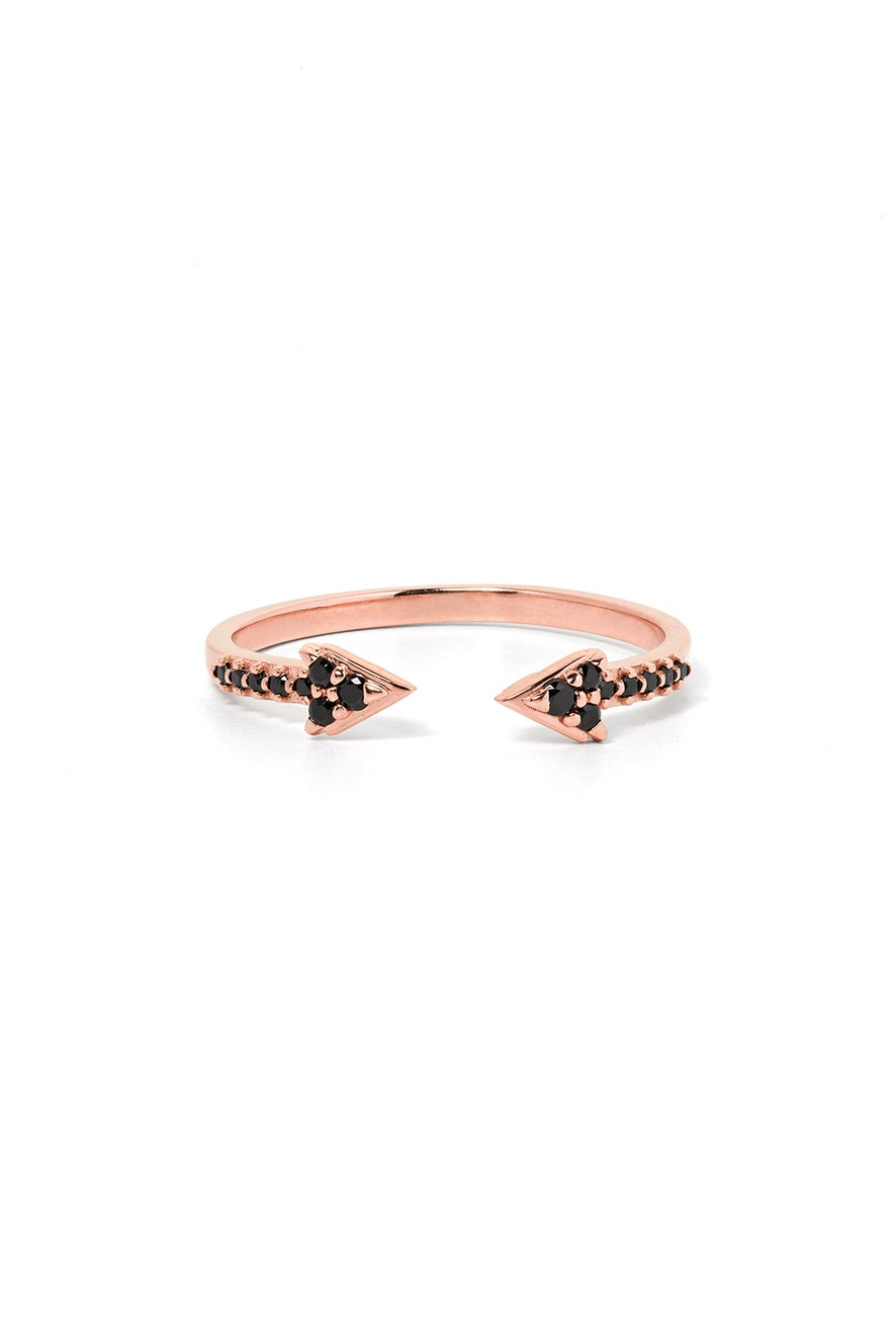 Forever Band, Rose Gold, Black Diamond