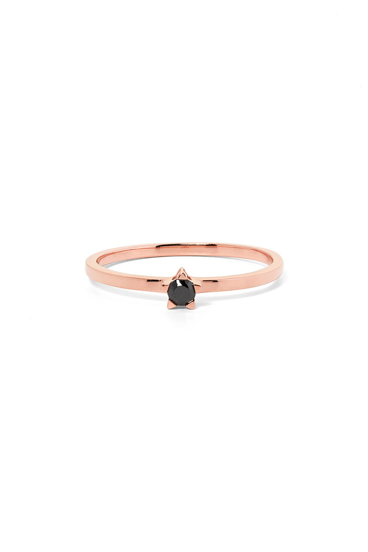 Forever Ring, Rose Gold, Black Diamond