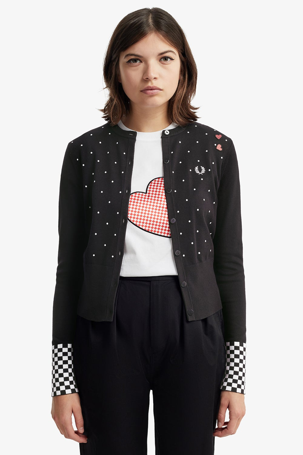 Fred Perry Amy Polkadot Cardigan