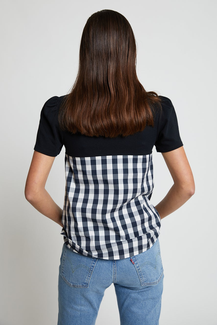 Fred Perry Gingham Panel Polo Shirt