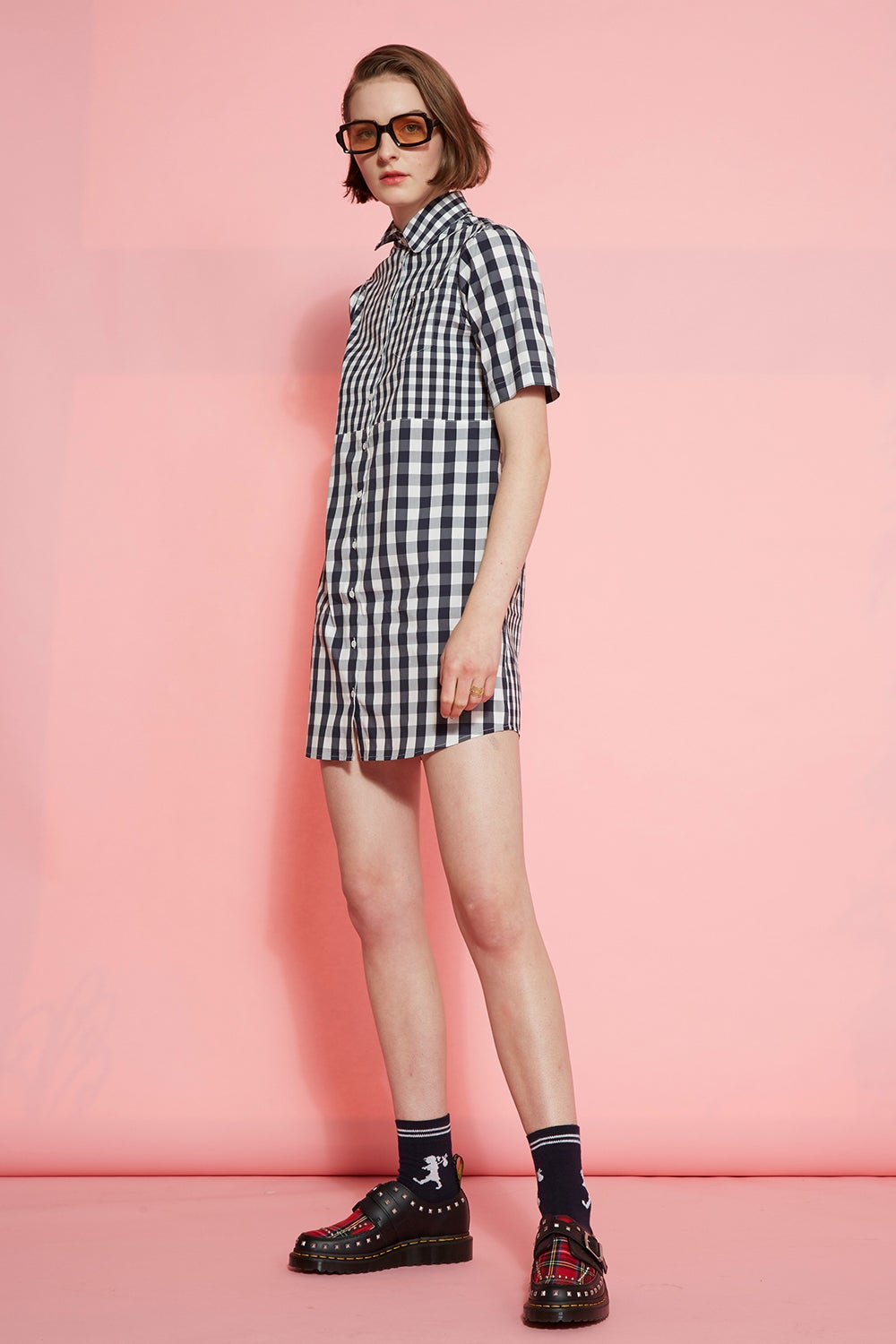 Fred Perry Mixed Gingham Shirt Dress