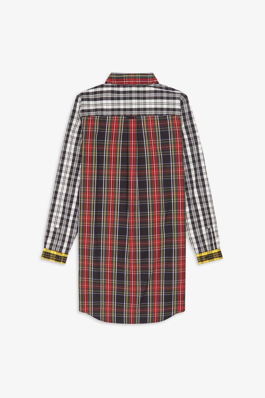 Fred Perry Mixed Tartan Shirt Dress