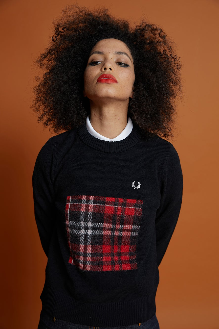 Fred Perry Tartan Detail Sweater