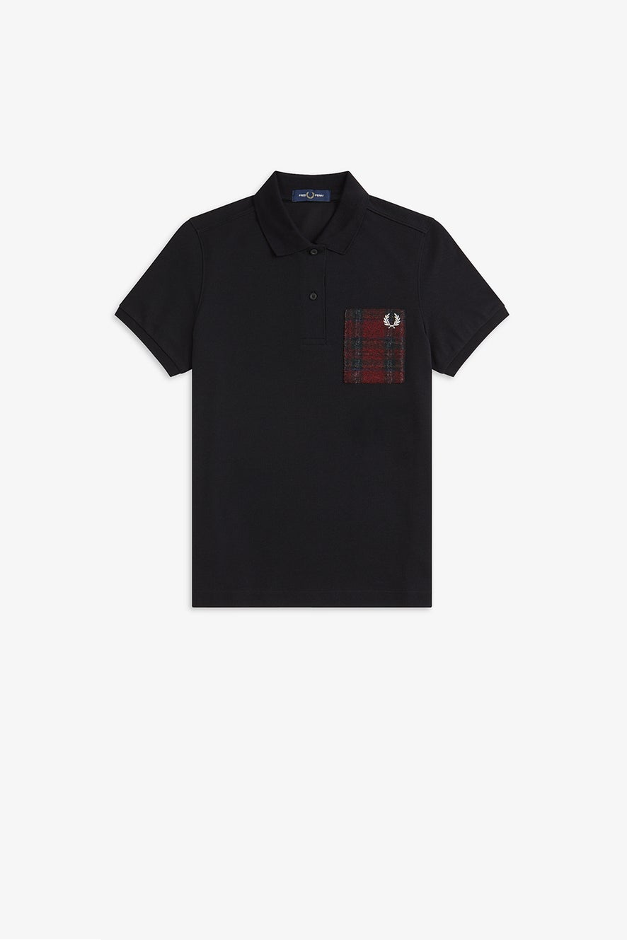 Fred Perry Tartan Patch Polo Shirt