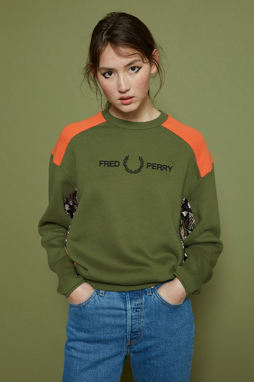 Fred Perry x Akane Utsunomiya Embroidered Sweatshirt
