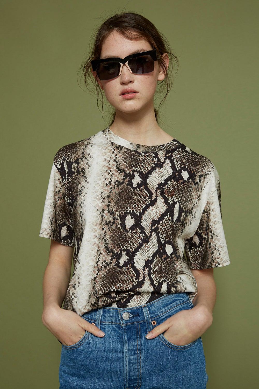 Fred Perry x Akane Utsunomiya Taped Python Print T-Shirt