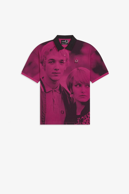Fred Perry x Raf Simons Oversized Digital Print Piqué Shirt