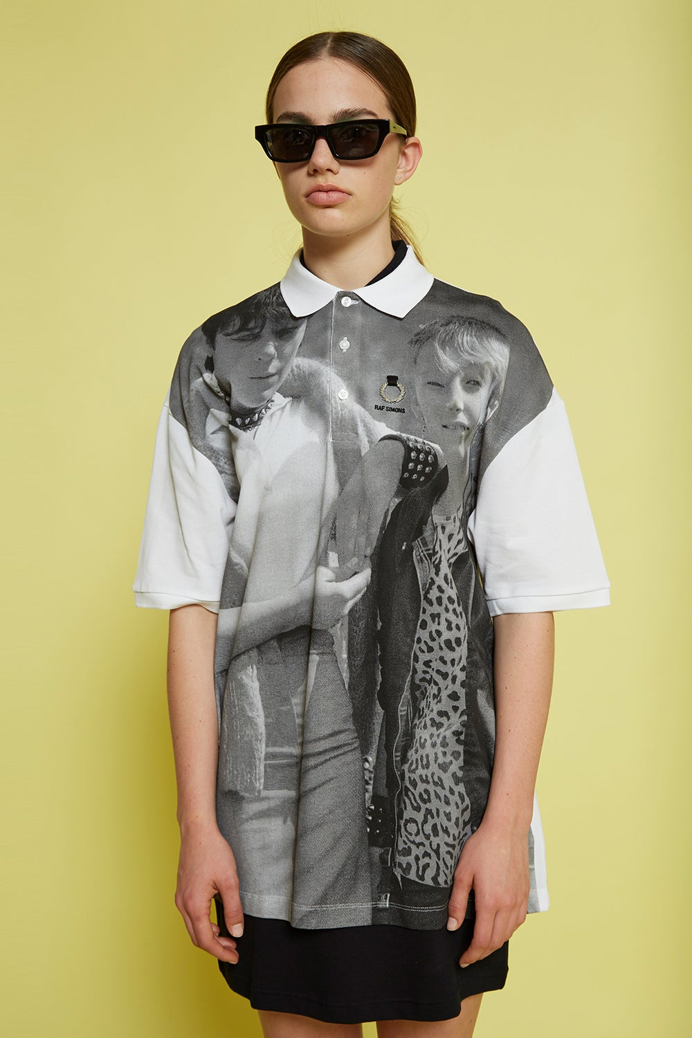 Fred Perry x Raf Simons Oversized Printed Piqué Shirt