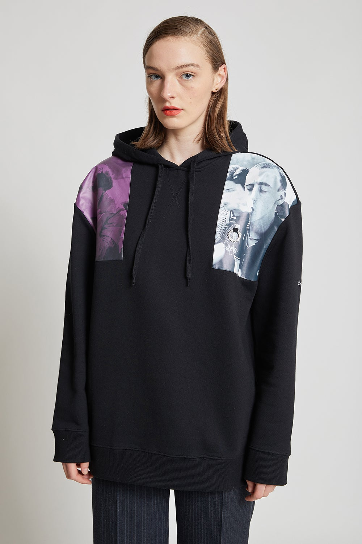 Fred Perry x Raf Simons Shoulder Print Hooded Sweatshirt