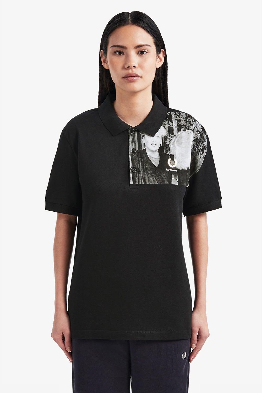 Fred Perry x Raf Simons Shoulder Print Piqué Shirt