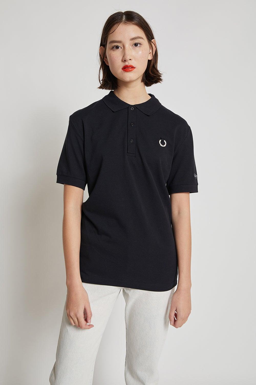 Fred Perry x Raf Simons Yoke Print Polo Shirt Black