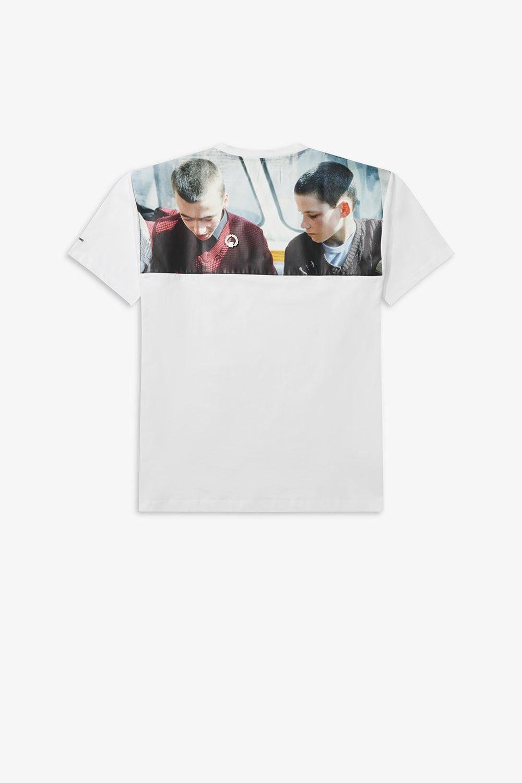 Fred Perry x Raf Simons Yoke Print T-Shirt White
