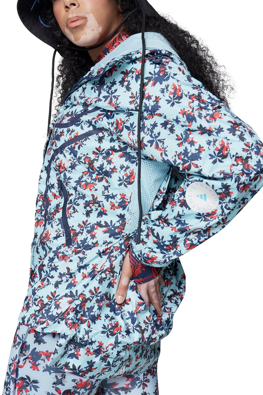 adidas by Stella McCartney Truepace Allover Print WIND.RDY Run Jacket Frozen Blue