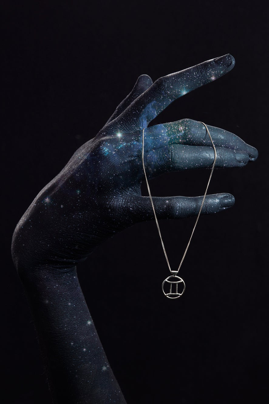 Gemini Necklace Silver