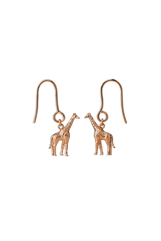 Giraffe Earrings Rose Gold
