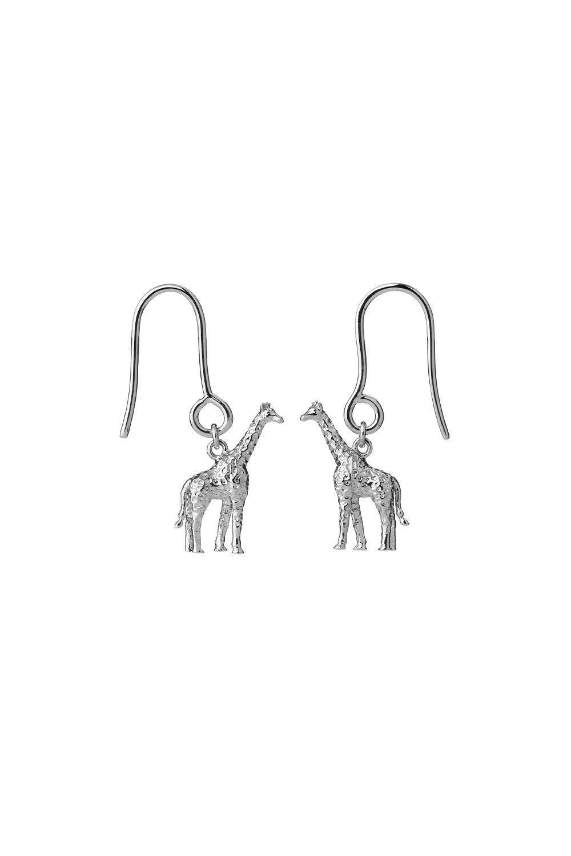 Giraffe Earrings Sterling Silver