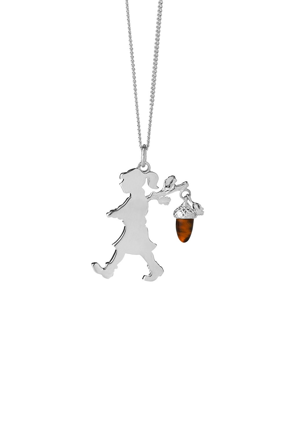 Girl with an Acorn Limited Edition Necklace Silver