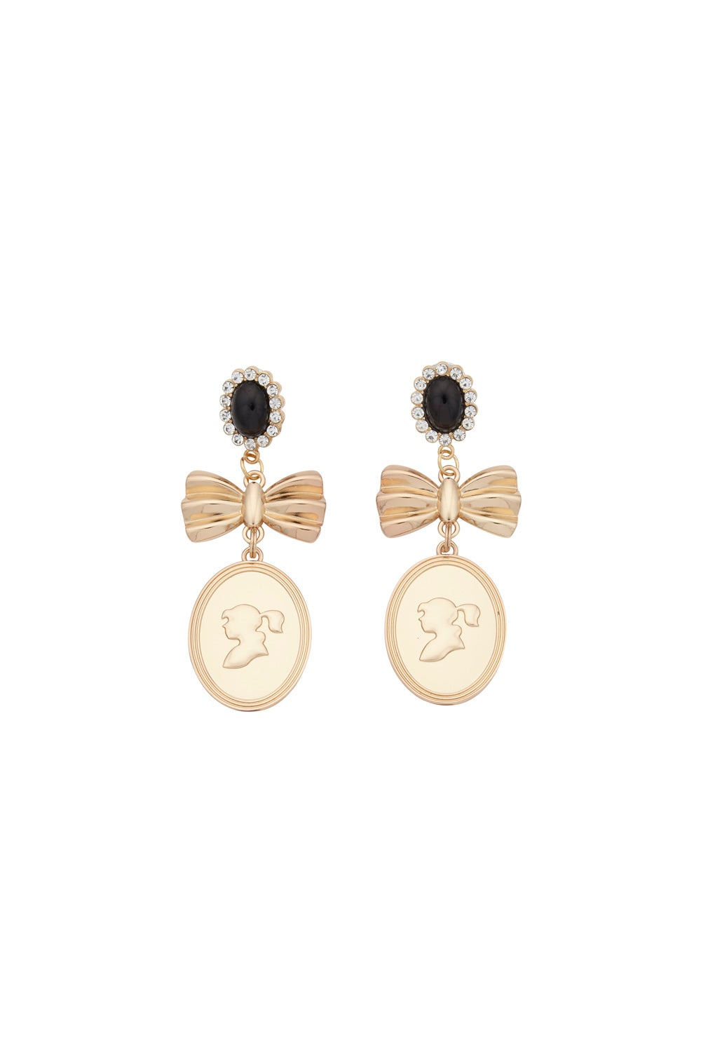 Golden Girl Cameo Earrings