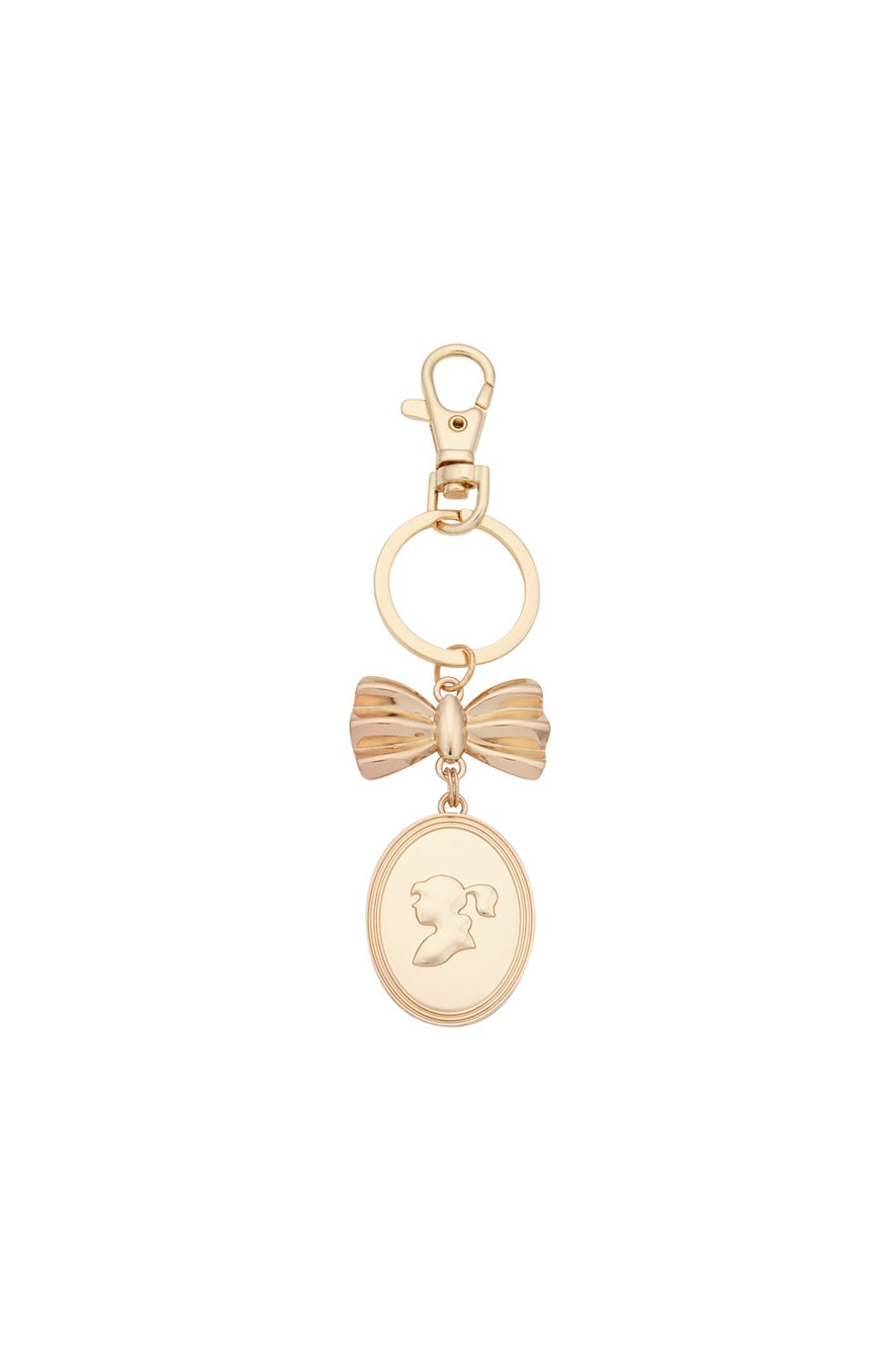 Golden Girl Cameo Key Charm